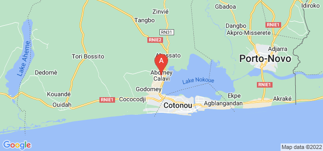 map of Abomey-Calavi, Benin