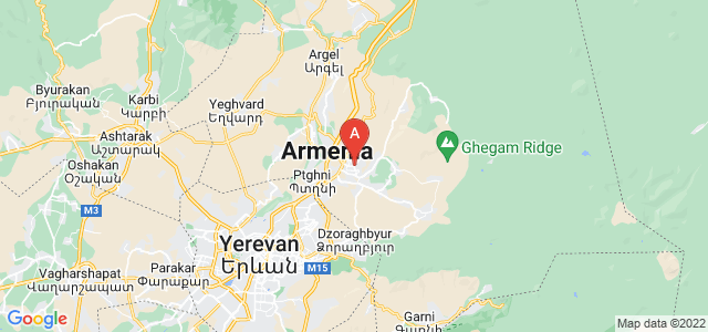 map of Abovyan, Armenia