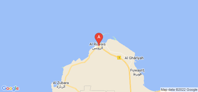 map of Abu az Zuluf, Qatar