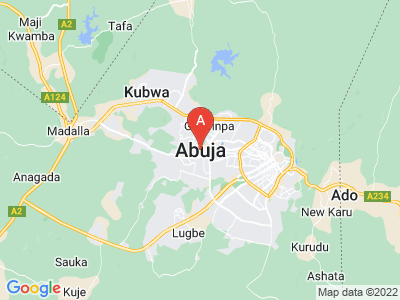 map of Abuja, Nigeria