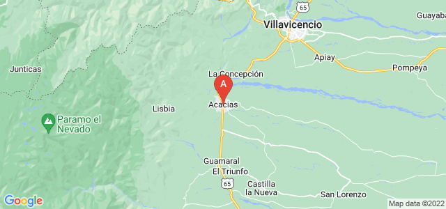 map of Acacías, Colombia