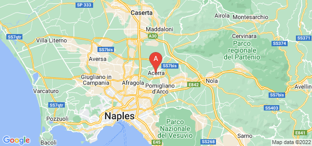 map of Acerra, Italy