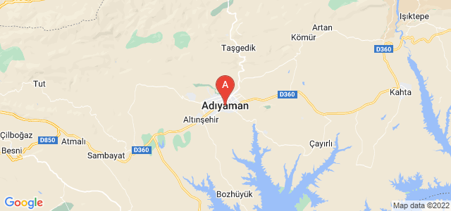 map of Adıyaman, Turkey