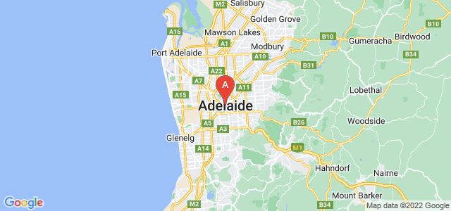 map of Adelaide, Australia