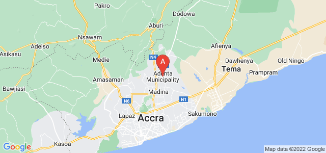 map of Adenta East, Ghana