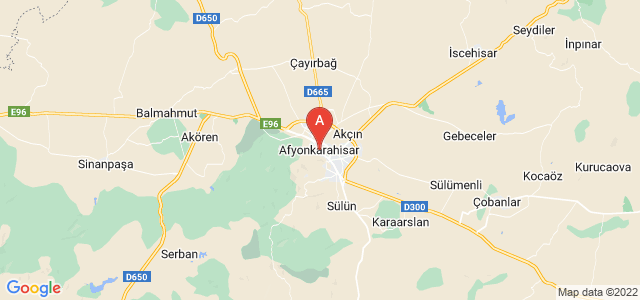 map of Afyon, Turkey