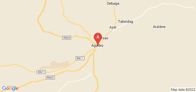 map of Agadez, Niger