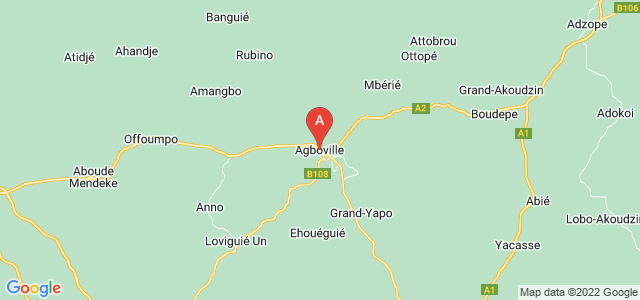 map of Agboville, Ivory Coast