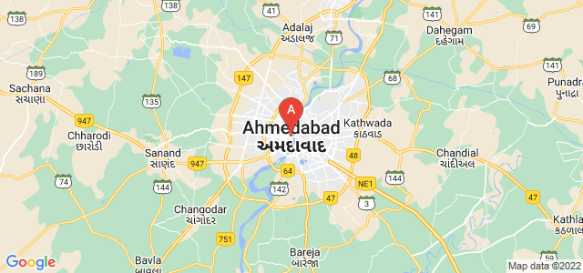 map of Ahmedabad, India