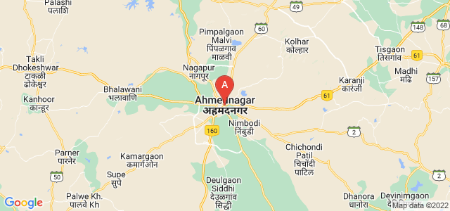 map of Ahmednagar, India