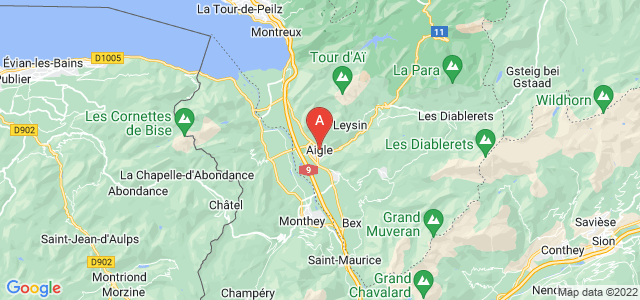 map of Aigle, Switzerland