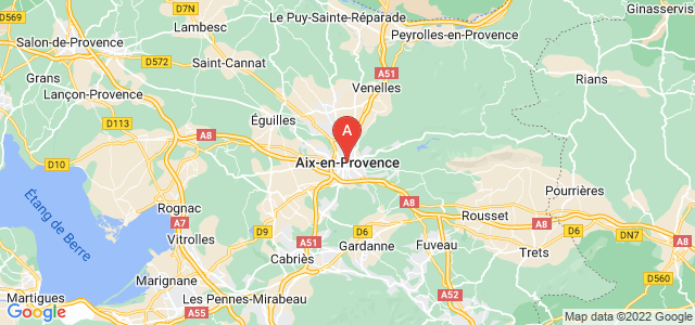 map of Aix-en-Provence, France