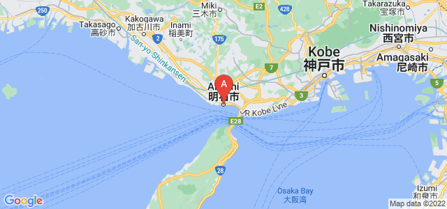 map of Akashi, Japan