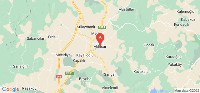map of Akhisar, Turkey