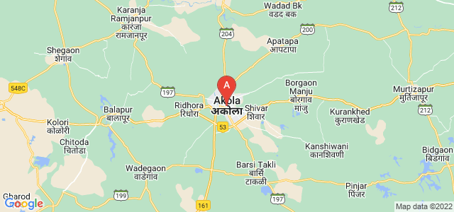 map of Akola, India