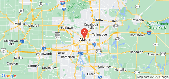 map of Akron, United States of America