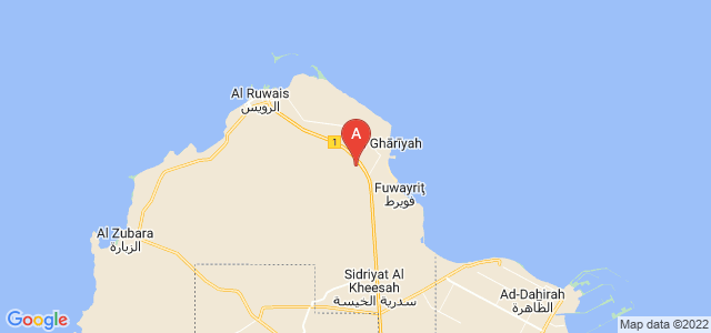 map of Al `Adhbah, Qatar
