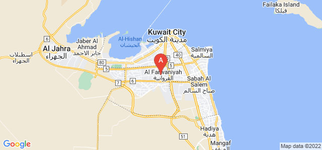 map of Al Farwaniyah, Kuwait