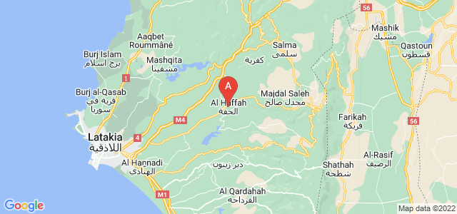 map of Al-Haffah, Syria