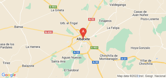 map of Albacete, Spain