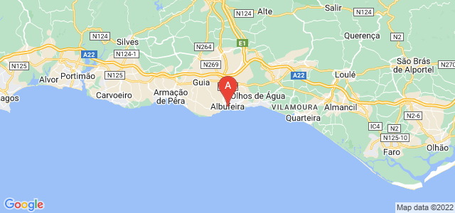 map of Albufeira, Portugal