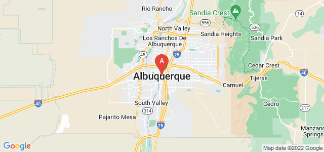 map of Albuquerque, United States of America