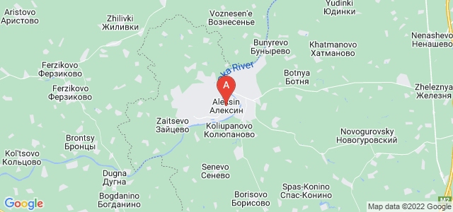 map of Aleksin, Russia