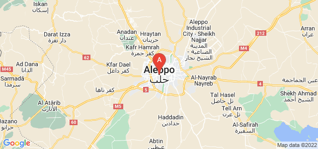 map of Aleppo, Syria