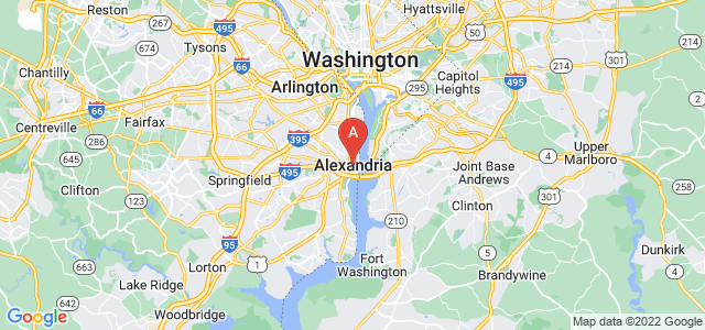 map of Alexandria, United States of America