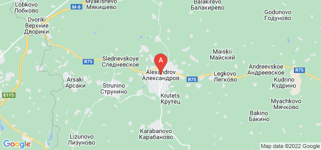 map of Alexandrov, Russia
