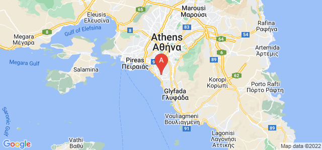 map of Alimos, Greece
