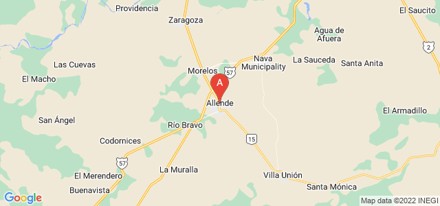 map of Allende, Mexico