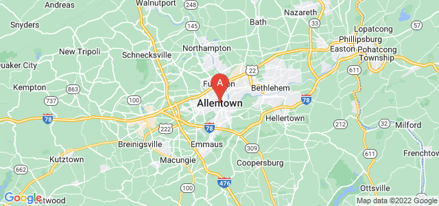 map of Allentown, United States of America