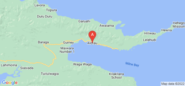 map of Alotau, Papua New Guinea