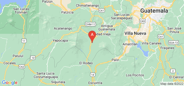 map of Alotenango, Guatemala