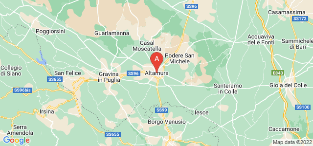 map of Altamura, Italy