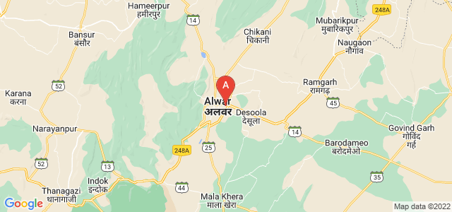 map of Alwar, India