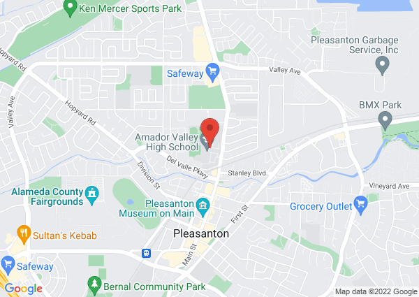 Map of Amador Valley High School Pool, Santa Rita Road, Pleasanton, CA, USA