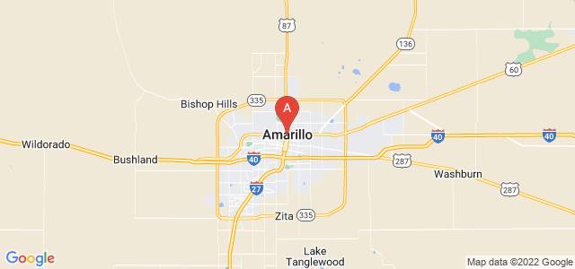 map of Amarillo, United States of America
