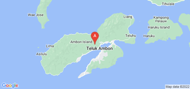 map of Ambon, Indonesia