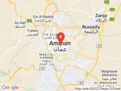 map of Amman, Jordan