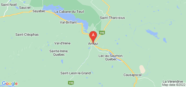 map of Amqui, Canada