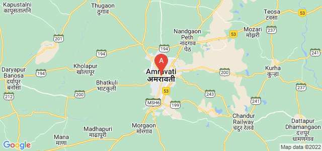map of Amravati, India