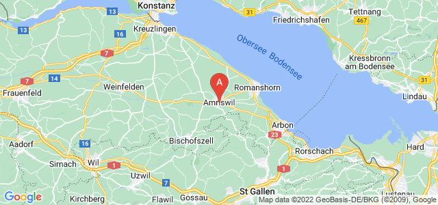 map of Amriswil, Switzerland