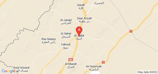map of An-Nabk, Syria