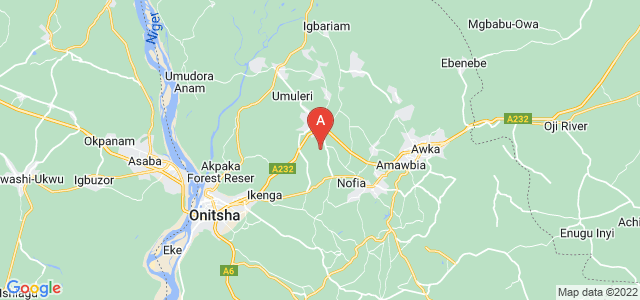 map of Anambra, Nigeria