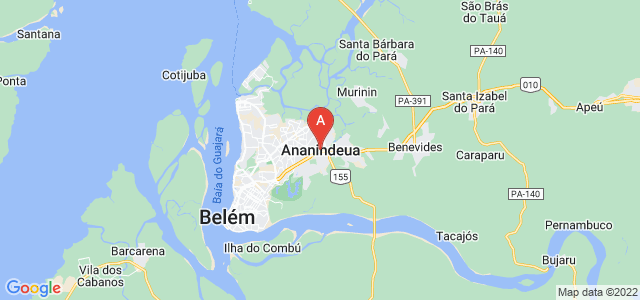 map of Ananindeua, Brazil