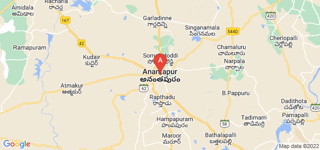 map of Anantapur, India