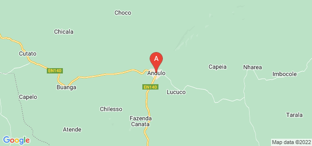 map of Andulo, Angola