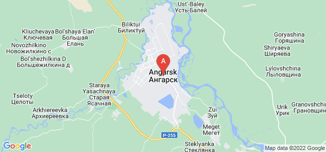 map of Angarsk, Russia